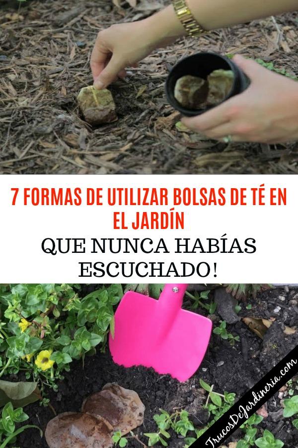 BOLSAS DE TÉ EN EL JARDÍN
