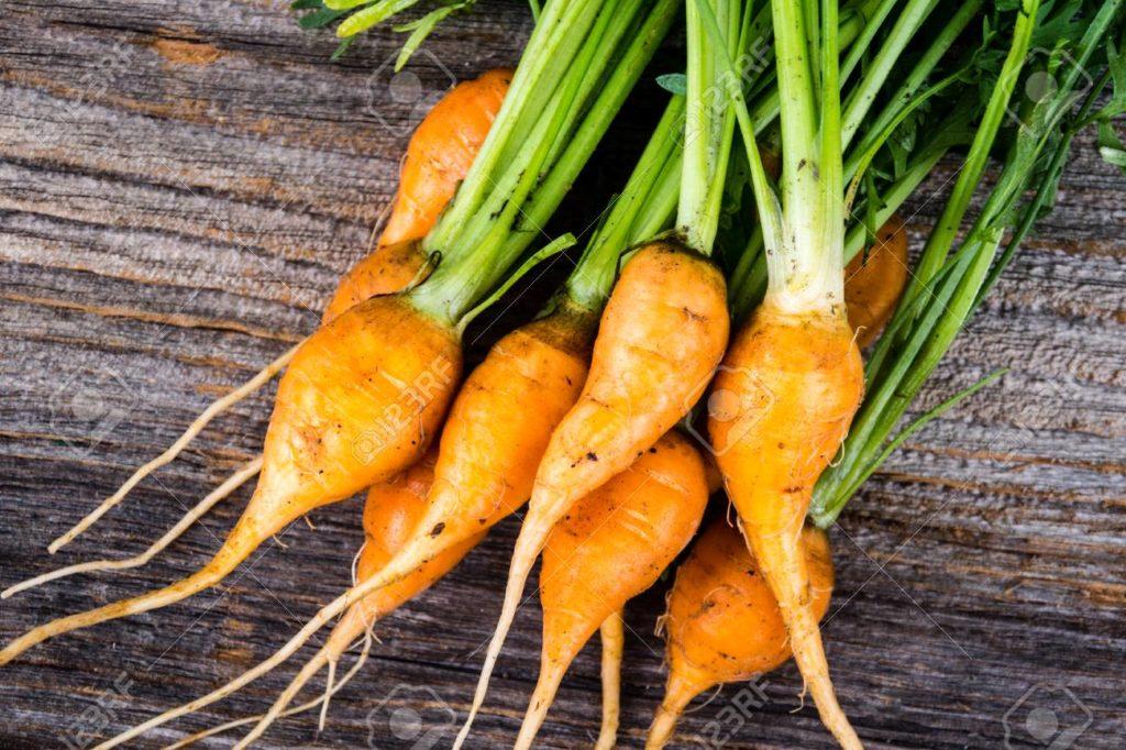 zanahorias en miniatura